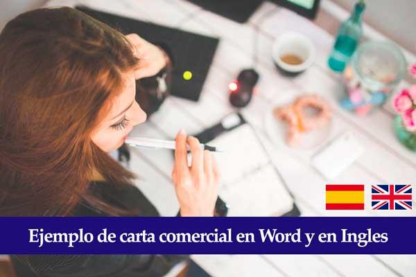Carta comercial ejemplo en español e ingles