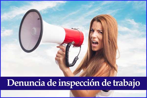 Modelo denuncia inspección inspección de trabajo