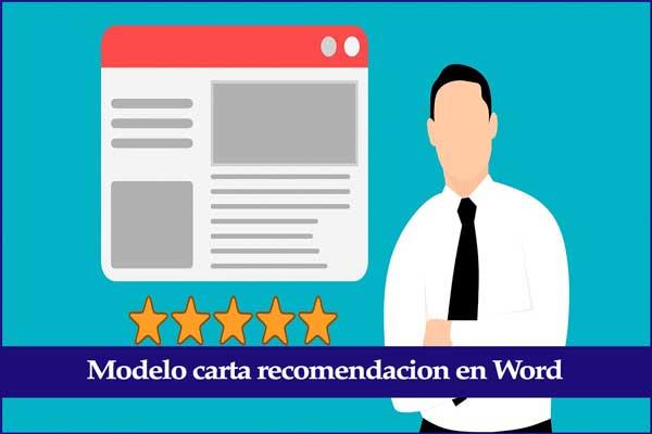 modelo carta de recomendación