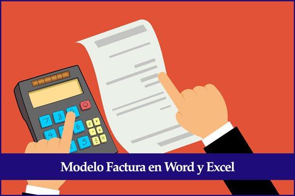modelo factura en word y excel