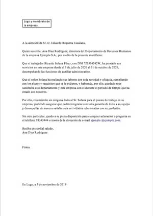 ejemplo carta de recomendación 2