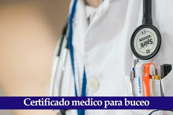 certificado medico buceo