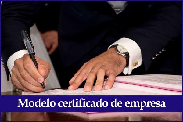 Modelo certificado de empresa