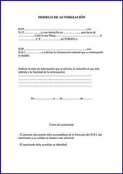 modelo autorizacion