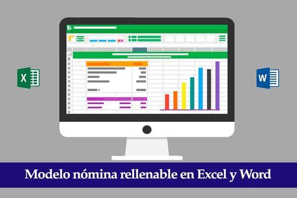 modelo nomina rellenable excel y word