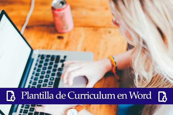 plantilla curriculum en word