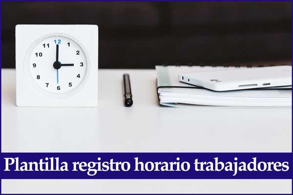 modelo registro horario